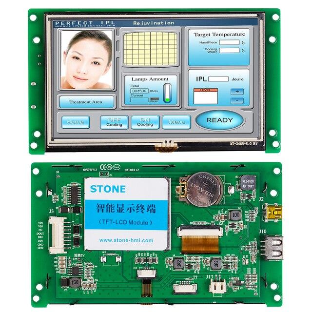 Ekran HMI LCD programlanabilir kontrol ve dokunmatik ekran + UART seri arayüzü
