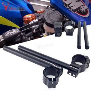 For KAWASAKI ZX6R Motorcycle Handlebar Racing Adjustable CNC 41/46/50/51 mm Clip On Ons Fork Handlebars Handle Bar Cafe Racer