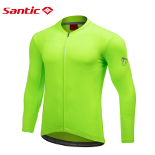 Santic Men's Long Sleeve Cycling Jersey Lightweight Breathable MTB Road Bike Shirts Reflective Design Bicycle Sports Clothing