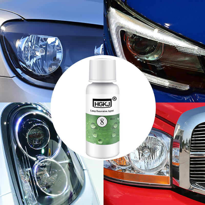 HGKJ 20ML Auto Cleaning Window Glass Cleaner Headlight Repair Refurbishment Fluid White Headlight Repair Car Accessories TSLM1