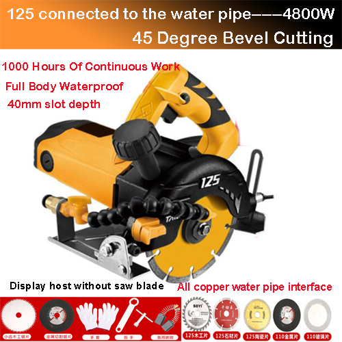 4800W Electric Cutting Portable Floor Tile Cut Machine Woodworking Cutting Machine Industrial Cutter Grade Ceramic Brick Stone
