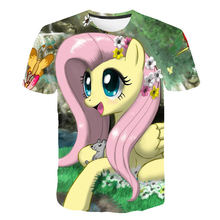 New 3D Unicorn Kids T-Shirt Print Girls Funny Clothes Boys Costume Children Clothes Girls 4 to 14 Year Little Pony Kids Tees