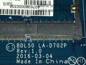 Image 4 - BiNFUL Available, nouvel article Carte mère pour ordinateur portable HP LA D702P, processeur N3710, carte mère BDL50 250, processeur N3710