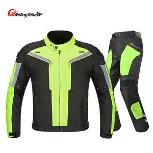 Men Motorcycle Jacket Pants Su