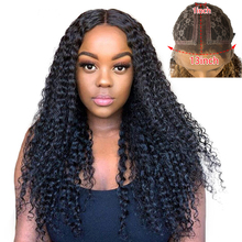 Wigs Human-Hair-Wigs Lace-Front Brazilian for Black-Women Plucked Curly Water 13X1 Kinky