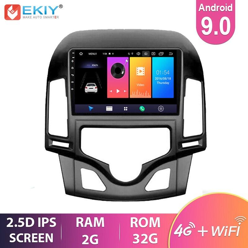Ekiy 9 android android ips android 9.0 para hyundai i30 2006-2011 rádio do carro navegação gps multimídia vídeo player wifi bt unidade de cabeça estéreo dvd