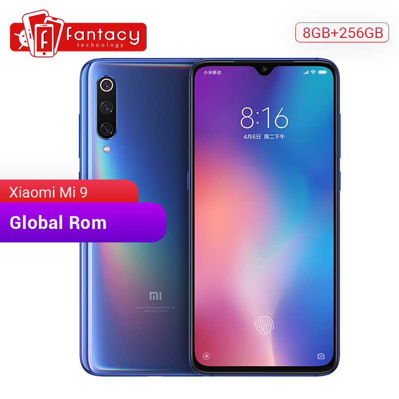 "Global Rom Xiaomi Mi 9 Mi9 8GB 256GB Snapdragon 855 Octa Core 6.39"" AMOLED FHD+ Display Smartphone 48MP Triple Cameras"