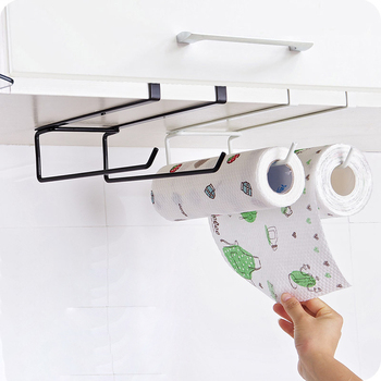Iron Paint Kitchen Paper Towel holder Rack Free Punching is not Easy to Rust for Stockpile Items and Wardrobe Clothing фото