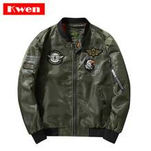 August USA MA1 Bomber Jacken Männer Blau Angels Flying Tigers Air Force Pilot Mäntel Windjacke Hip Hop Männer Street kleidung 4XL(China)