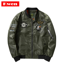 August USA MA1 Bomber Jackets Men Blue Angels Flying Tigers Air Force Pilot Coat