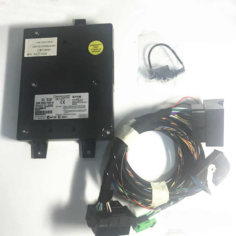 RNS510 9W2 9W7 9ZZ Mobil Radio Bluetooth Modul Langsung Plug Nirkabel Microphne Harness Kabel 1K8035730D