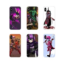 Anime Kick Ass Hit Girl Red Misk Silicone Cases Covers For Apple iPhone X XR XS 11Pro MAX 4S 5S 5C SE 6S 7 8 Plus ipod touch 5 6(China)