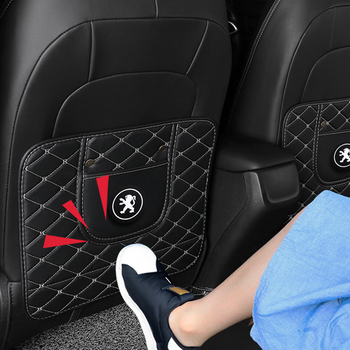 2pcs/Car Seat Back Protector Pad Kick Mat Anti Dirty Mud-keep Those Seats Keep Clean Fit for peugeot 307 206 308 207 406 407 408 back protective cover for children s car seat back protective mat for babies anti kick anti wear and anti tread dirty mat
