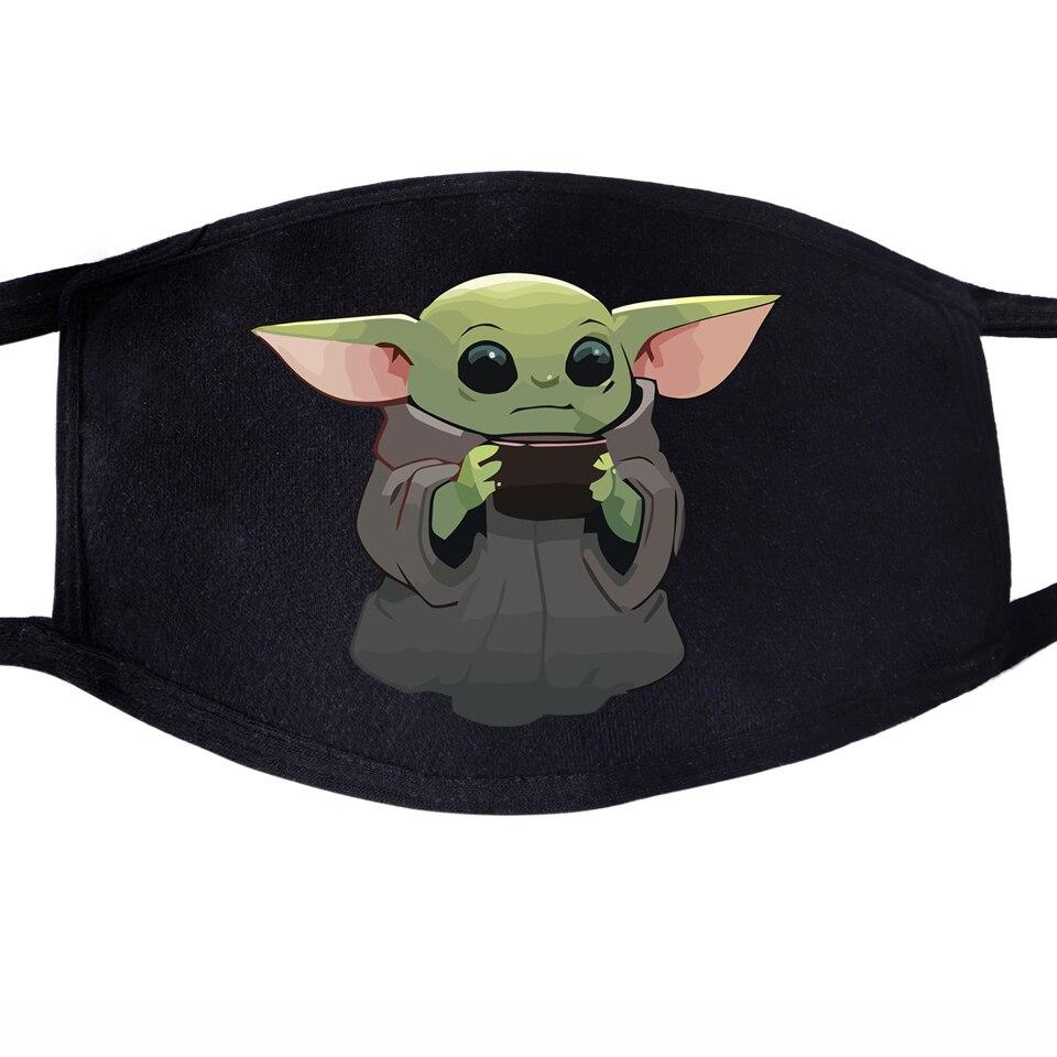 Mandalorian Kawaii Cute Baby Yoda Face Mask Unisex Mouth Black Half Anti Dust Anti-bacterial Quarantine Protective Dust Masks