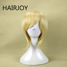 Hairjoy синтетические волосы короткие прямые фиолетовый парик