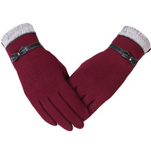 Wrist-Mittens Full-Finger-Gloves Cashmere Elegant Warm Winter Women New-Fashion Adult