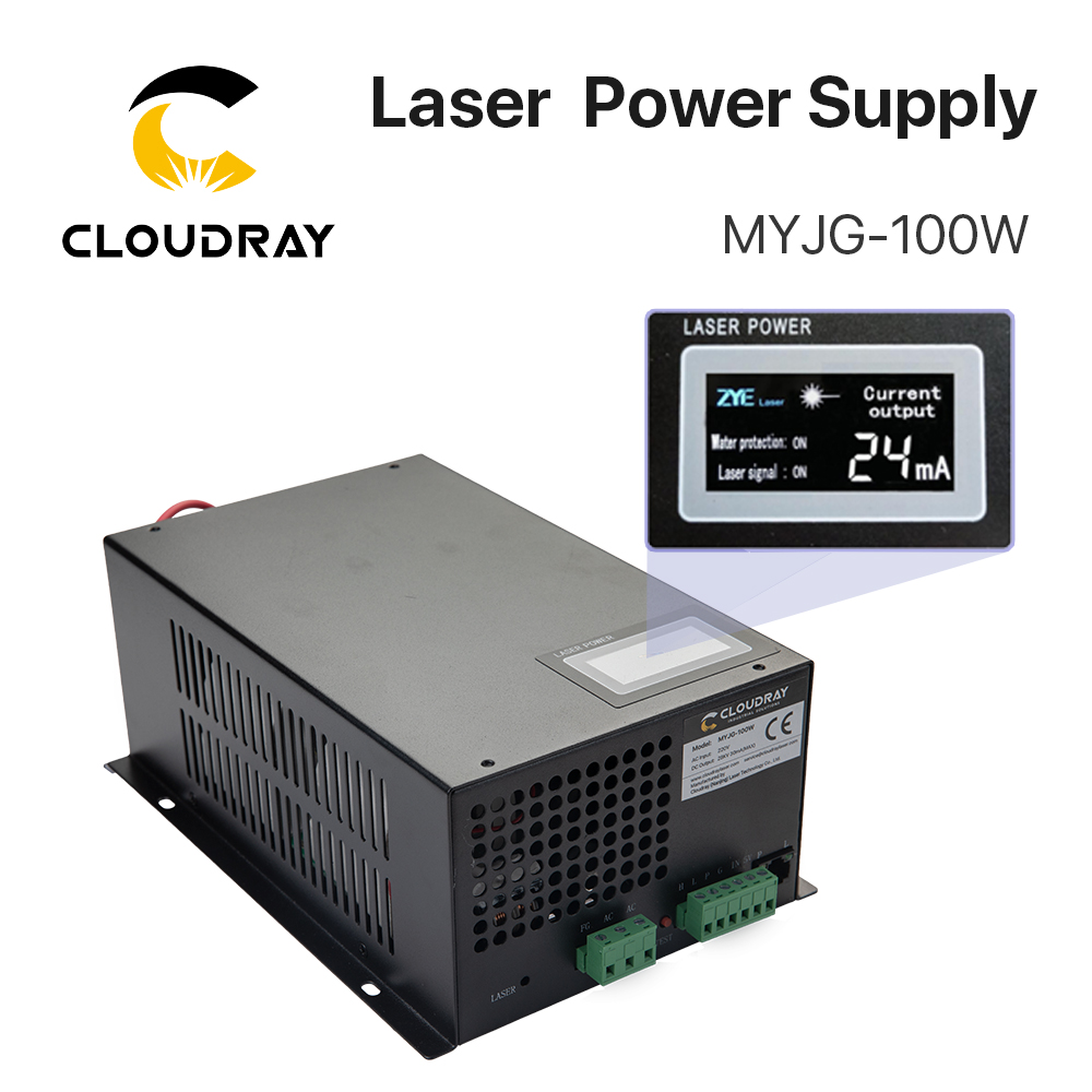 Alimentatore laser CO2 Cloudray 80-100W per macchina da taglio per incisione laser CO2 categoria MYJG-100W