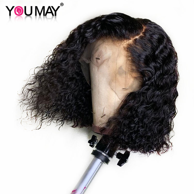 Bob Wig For Woman 13X4 Short Lace Front Human Hair Wigs Pre Plucked 180 Density Brazilian
