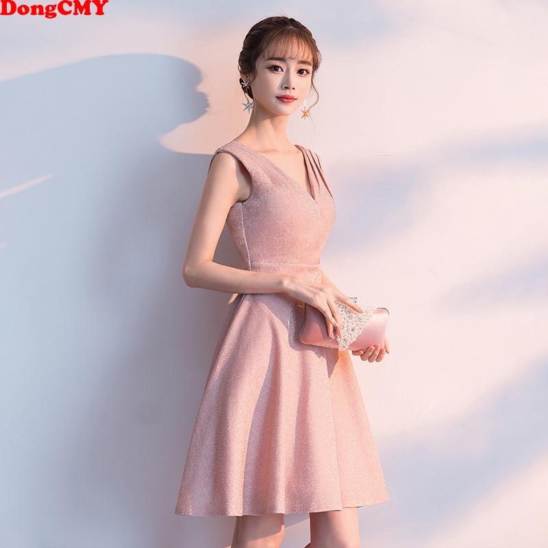 DongCMY Short Cocktail Dresses V Neck Party Elegant Plus Size Dress