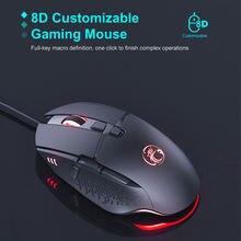 Imice t91 пожарная кнопка дизайн Проводная игровая мышь usb