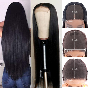 Image 3 - 5x5 Lace Closure Wig Brazilian Straight Lace Front Human Hair Wigs for Black Women 6x6 Closure Wig Remy Hair Gabrielle