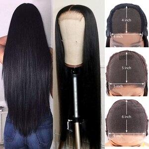 Image 3 - Gerade Spitze Vorne Menschenhaar Perücken für Frauen Brasilianische Remy Haar 4x4 5x5 6x6 spitze Schließung Perücke Preplucked 150 Dichte Gabrielle