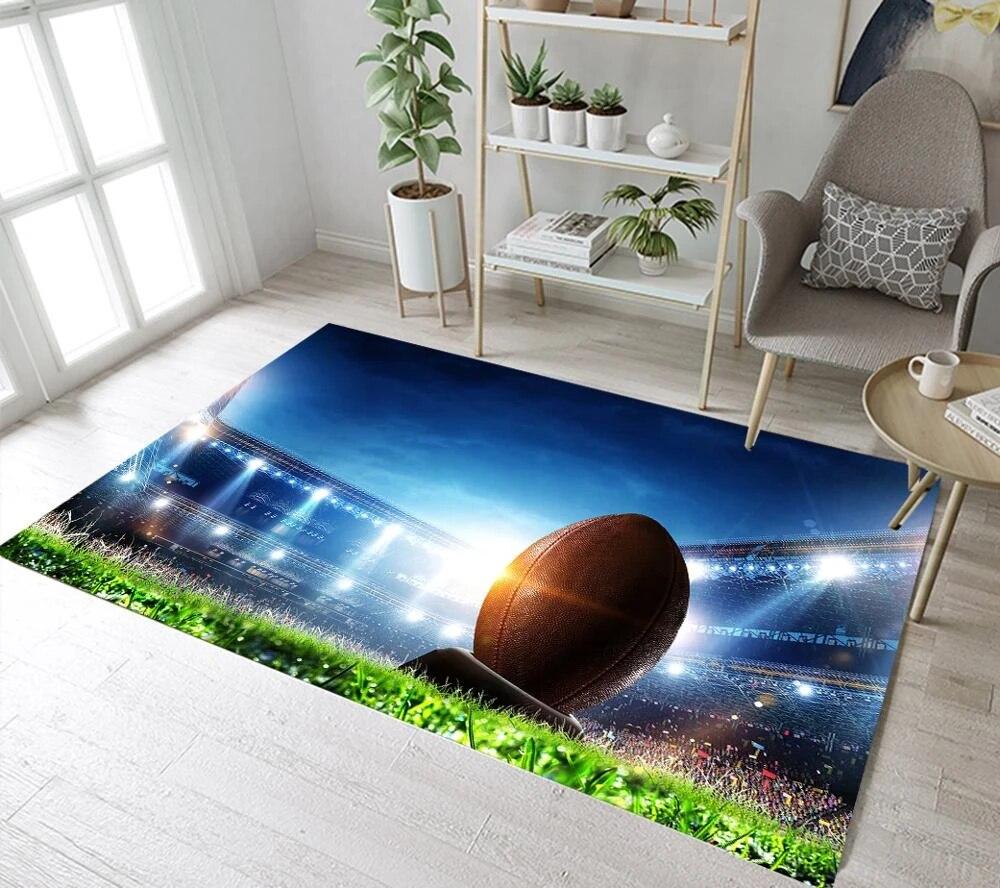 terrain de rugby motif sport decoration de la maison football tapis pour salon tapis chambre tapis de sol garcon chambre tapis
