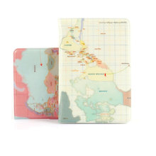 PVC Sweet World Map Passport Cover Travel Wallet Female Women Business Card Holder Card Protection Passport Case For Document(China)