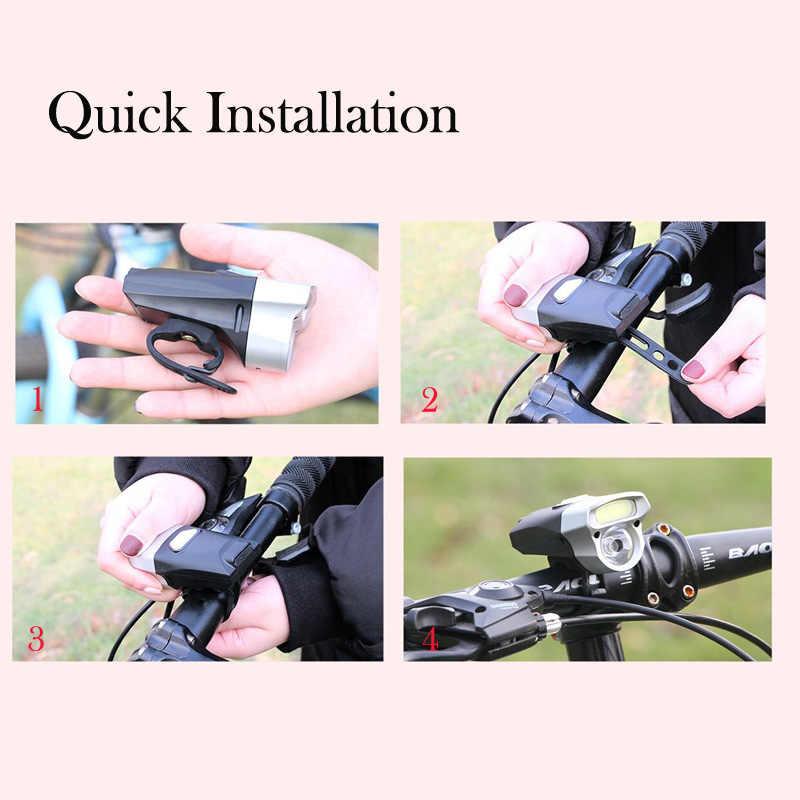 Akıllı bisiklet ön işık seti far LED USB şarj edilebilir ve pil gece sürme MTB yol bisiklet el feneri bisiklet lambası