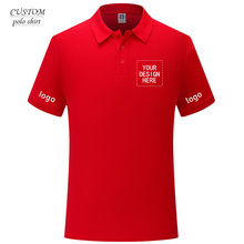 Mens Custom Embroidered Regular-Fit Polo Shirt Personalised Text Logo Workwear- Free Setup -