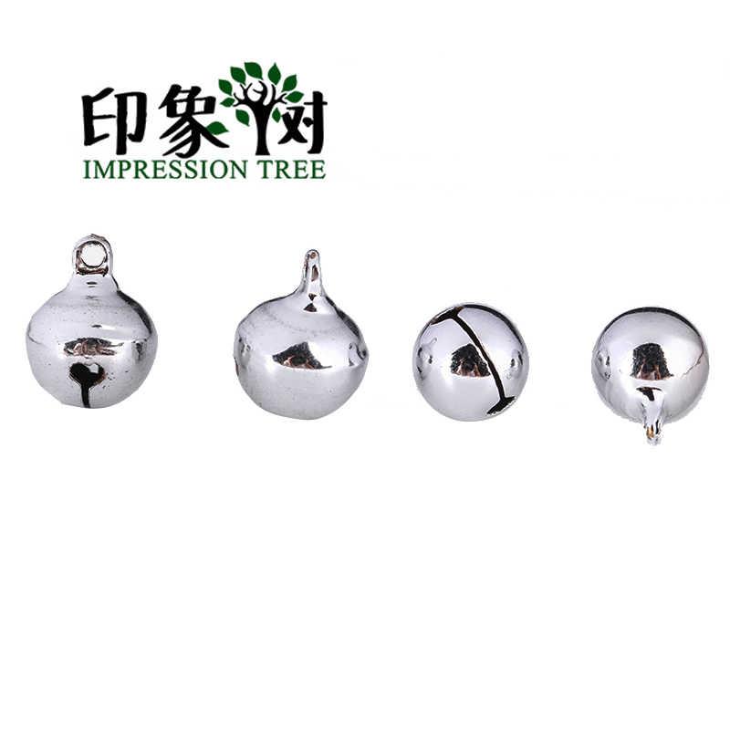 1 pieza de plata de múltiples tamaños que sondea la campana de bronce de cobre 6/8/10/12/14/16/18/20mm árbol de impresión DIY joyería encontrar 501