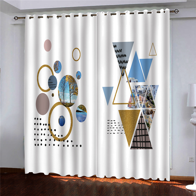 check MRP of geometric patterned curtains