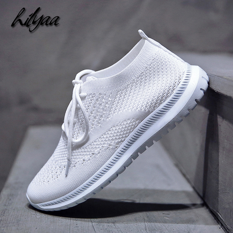 2019 New Fashion Sneaker Woman Sport Running Shoes Plus Size Breathable Famale Casual Mesh Sport Soft Flats Shoes Freeshipping