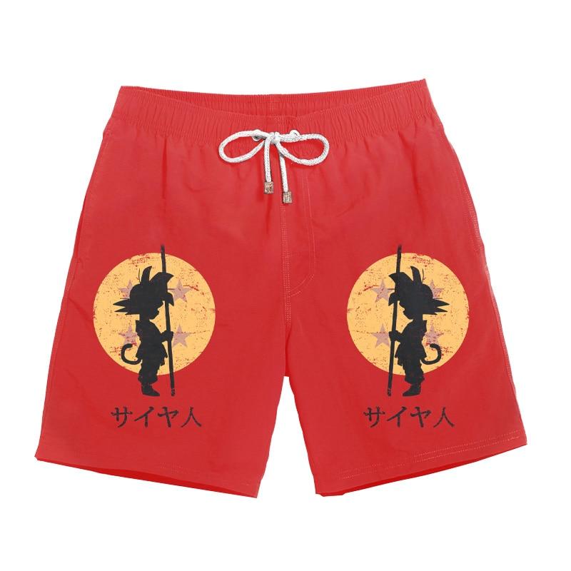 Dragon Ball Shorts 3D Print Casual Men's Beach Shorts Funny Cartoon Swiming Shorts Men Quick-drying Sports Pants S-3XL