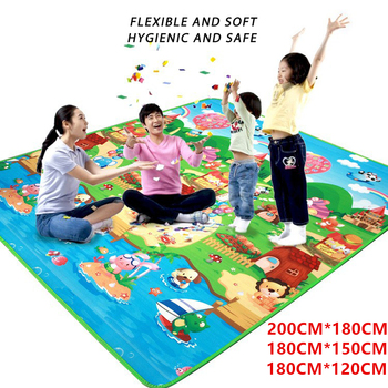 Mata do zabawy dla dzieci dwustronna dywan dla dziecka dywan dla dzieci rozwijająca się mata 0 5cm gruba miękka mata dla niemowlęcia zabawki dla dzieci miękka podłoga tanie i dobre opinie CN (pochodzenie) 120CM*180CM 150CM*180CM 180CM*200CM Unisex Edukacyjne SOFT Sport LP1065 Keep Away From The Fire Cała 0 5 cm