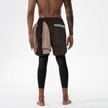 Dihope 2020 Men 2 in 1 Joggers pants Built-in Pockets Hips Hidden Zipper Pockets