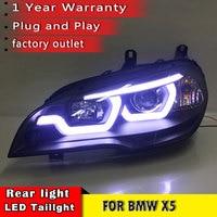 New Car Styling for BMW X5 e70 2007 2013 Headlight LED DRL LOW/HIGH Beam H7 HID Xenon bi xenon lens for BMW X5 Head Lamp Auto