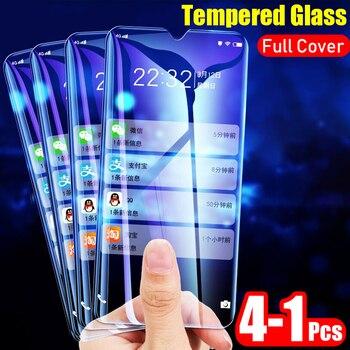 4-1 Uds protectora de vidrio templado en El para Xiaomi Redmi 7A 7 nota 7 8 Pro pantalla cristal protector película para la nota 8 7 cubierta de vidrio