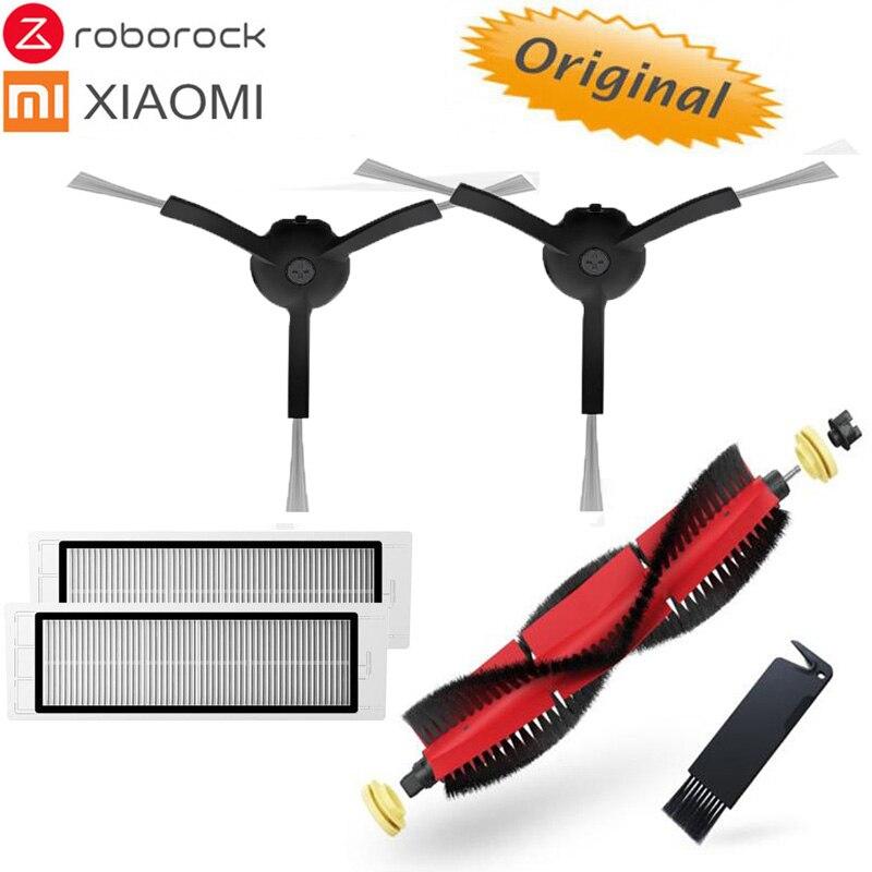 Original Xiaomi/Roborock S55 E35 T4 T65 Robot aspirateur partie noire côté brosse filtre brosse couvercle détachable Main brosse Pack
