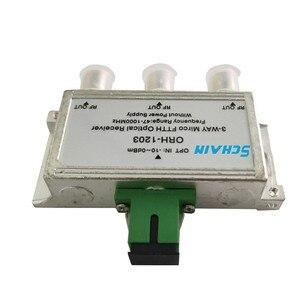 Image 3 - Mini FTTH CATV Optischer Empfänger 47 1000MHz 3 way passive FTTH negative optische empfänger