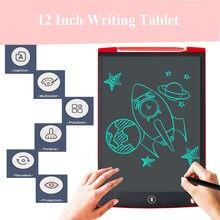 LCD yazma tableti 12 inç dijital çizim elektronik el yazısı mesaj ekran kurulu çocuk yazı tahtası ile yazma kalemi