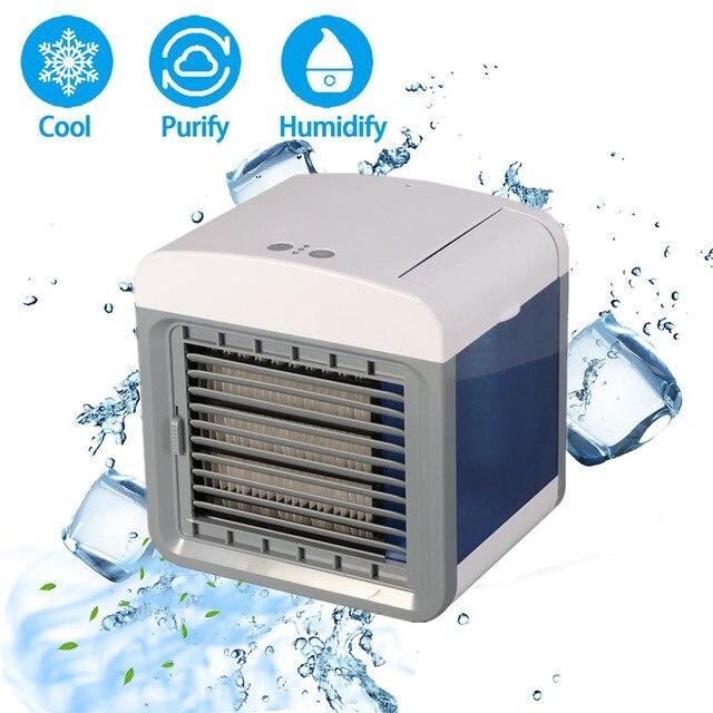 MINI AIR Conditioner พัดลมระบายความร้อนแบบพกพา Humidifier เครื่องปรับอากาศ Cooling Desktop พัดลมสำหรับ Home Offic