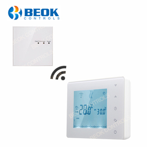 BOT-X306 Wireless Touch Screen Programmable Gas Boiler Thermostat for Room Heating Temperature Controller Regulator Kid Lock(China)