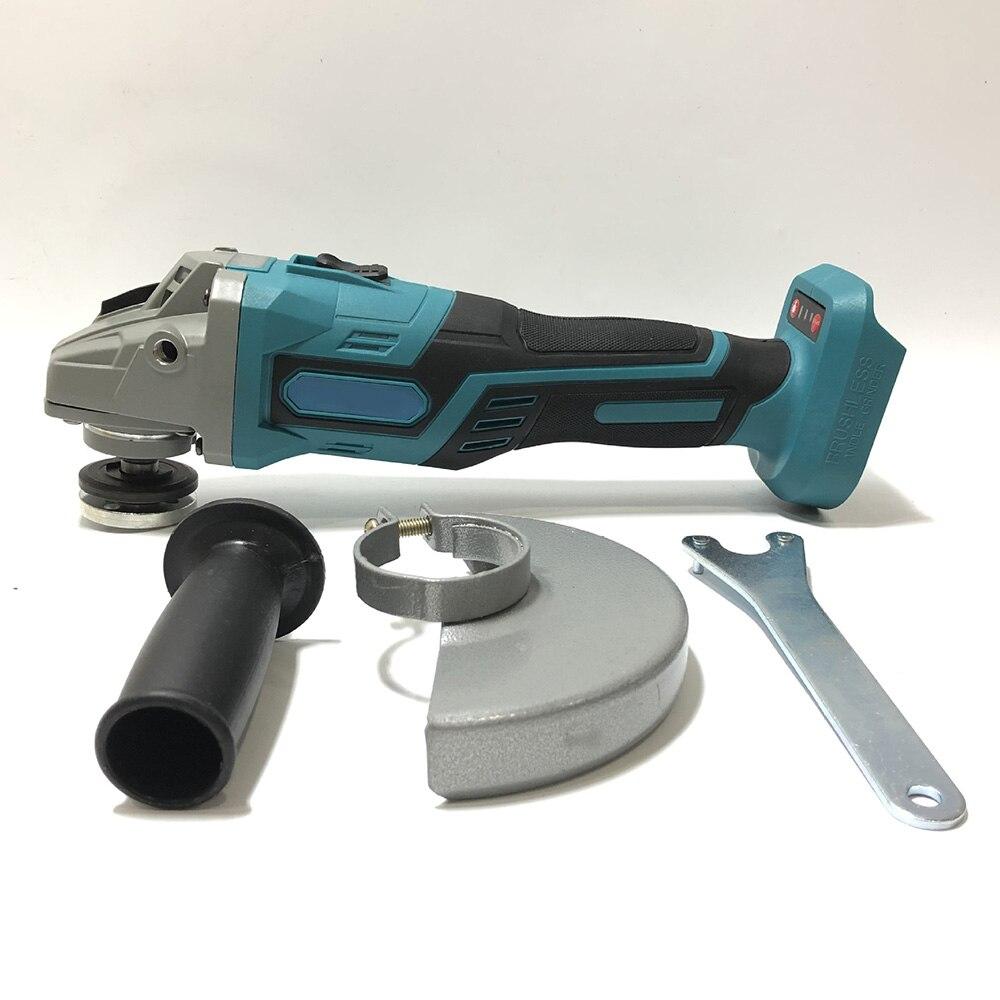 125 Mm 1380W Borstelloze Cordless Impact Hoek Grinder Voor Makita 18 Polijstmachine Elektrische Voor Houtbewerking Power Tools Zonder Batterij
