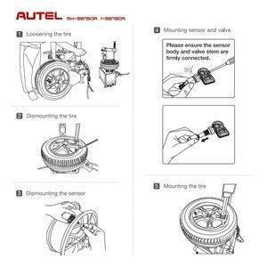 Image 3 - 4 قطعة Autel Mx الاستشعار 433 315 مسح الإطارات أدوات إصلاح المعادن رئيس MaxiTPMS الوسادة مبرمج اكسسوارات السيارات