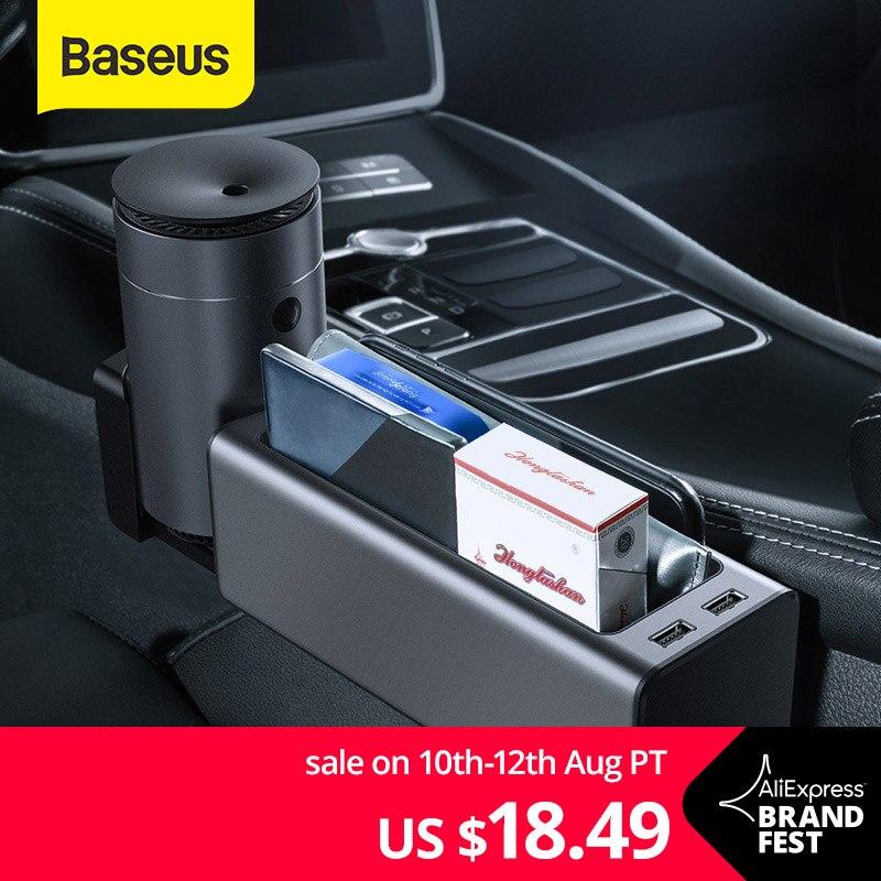 Baseus Car Organizer Auto Sedile Fessura Lacune Scatola di Immagazzinaggio Supporto Del Telefono della Tazza per Tasche Stivaggio Riordino Organizer Accessori Auto