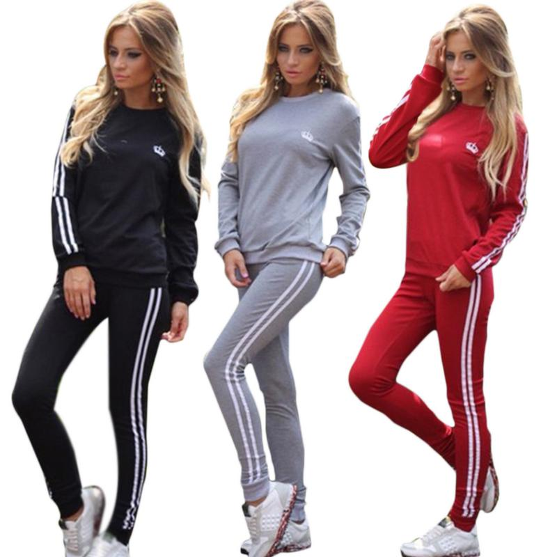 Tracksuit For Women Two Piece Set Chandal Mujer Winter Suit For Women Office Lady Loose Casual Women Sports Suit Plus Size 2019