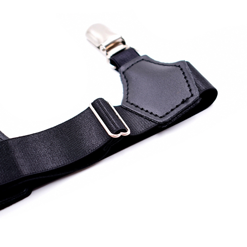 2Pcs Elastic Men Sock Suspenders Garter Hold Up Braces Duck Clip Grip Adjustable LX9E