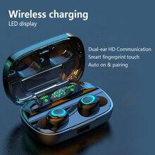 TWS Bluetooth 5.0 Wireless Charging Earbuds Hands-free Waterproof Headphones 10m Working Distance Hi-Fi Sound nfc bluetooth speaker with mic hi fi sound hands free call