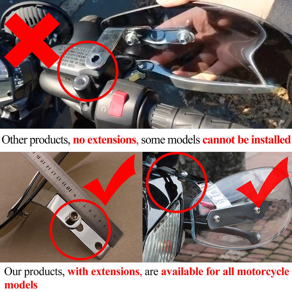الألومنيوم دراجة نارية المقود Handguards ل honda فرس سوزوكي drz400 yamaha fz6n ابريليا rsv4 rr bmw r1100rt kawasaki z750